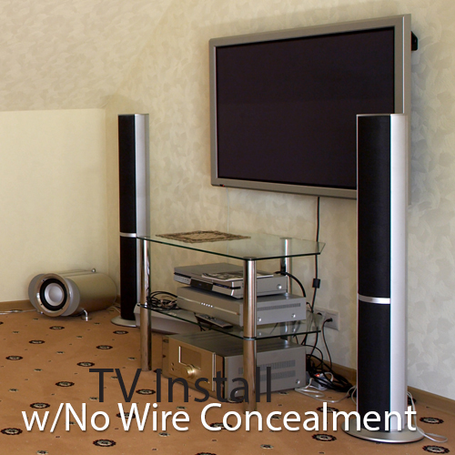 On The Wall Installation w/No Wire Concealment